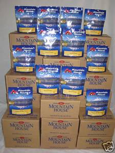 Mountain House freeze dried emergency food